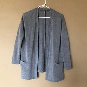 Poof Gray Cardigan With Pockets, size L